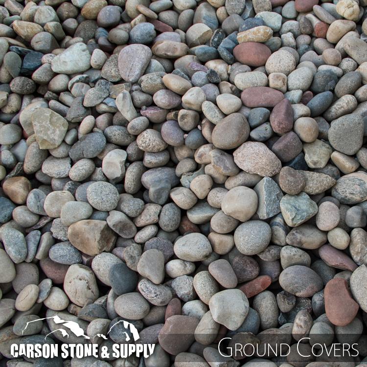 Decorative Stone Ground Cover : Colorful cobble carson stone and supply