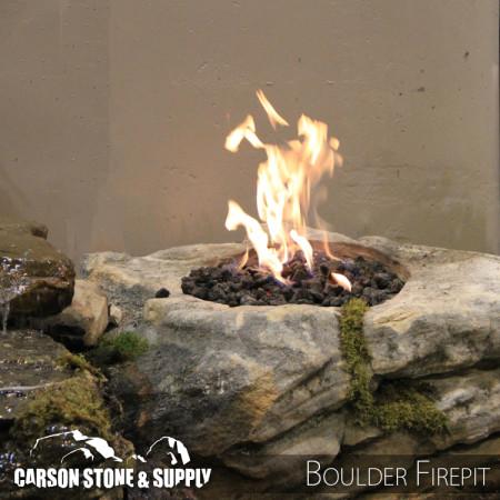 Natural Stone Boulder Outdoor Firepit